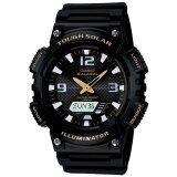 ขาย ซื้อ ออนไลน์ Casio Standard นาฬิกาข้อมือผู้ชาย สีดำ สายเรซิ่น รุ่น Aq S810W 1Bvdf
