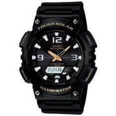 ราคา ราคาถูกที่สุด Casio Standard นาฬิกาข้อมือผู้ชาย สีดำ สายเรซิ่น รุ่น Aq S810W 1Bvdf