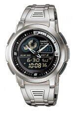 Casio Standard นาฬิกาข้อมือผู้ชาย สีเงิน สายสแตนเลส รุ่น Aqf102Wd 1B ถูก