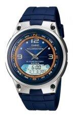 ขาย Casio นาฬิกาข้อมือผู้ชาย สายเรซิ่น Standard รุ่น Aw82 2A สีน้ำเงิน