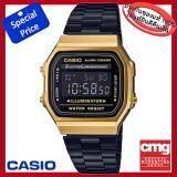 ทบทวน Casio Standard Digital รุ่น A168Wegb 1Bdf สีดำทอง มั่นใจแท้ 100 ประกัน Cmg Casio Standard