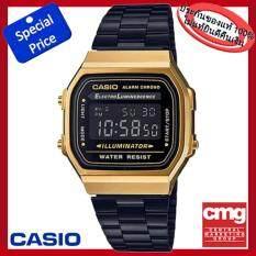 ราคา Casio Standard Digital รุ่น A168Wegb 1Bdf สีดำทอง มั่นใจแท้ 100 ประกัน Cmg ใหม่ล่าสุด