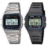 ส่วนลด Casio Standard Digital นาฬิกาข้อมือผู้ชาย รุ่น F 91W 1 Black Casio Standard Digital นาฬิกาข้อมือผู้ชาย A158Wa 1Df Silver Casio ใน Thailand