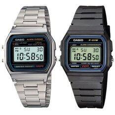 ราคา Casio Standard Digital นาฬิกาข้อมือผู้ชาย รุ่น F 91W 1 Black Casio Standard Digital นาฬิกาข้อมือผู้ชาย A158Wa 1Df Silver เป็นต้นฉบับ