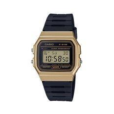 ราคา Casio Standard นาฬิกาข้อมือสำหรับผู้หญิง รุ่น F 91Wm 9Adf สีดำ ทอง เป็นต้นฉบับ
