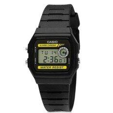 ราคา Casio Standard นาฬิกาข้อมือ สายเรซิ่น รุ่น F 94Wa 9Dg สีดำ