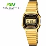 ส่วนลด Casio Standard นาฬิากาข้อมือสุภาพสตรีสีทอง สายสแตนเลส รุ่น La 670Wga 1 Casio ไทย