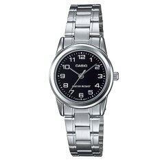ขาย Casio Standard Lady นาฬิกาข้อมือผู้หญิง สีเงิน สีดำ สายสแตนเลส รุ่น Ltp V001D 1Budf Casio ออนไลน์