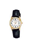 ราคา Casio Standard นาฬิกาข้อมือผู้หญิง สายหนัง รุ่น Ltp V002Gl 7Budf หน้าขาว ใหม่