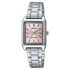 ซื้อ Casio Standard นาฬิกาข้อมือสุภาพสตรี สายสเตนเลสสตีล รุ่น Ltp V007D 4Eudf หน้าชมพู ออนไลน์