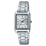 ซื้อ Casio Standard นาฬิกาข้อมือสุภาพสตรี สายสเตนเลสสตีล รุ่น Ltp V007D 7Eudf หน้าขาว เงิน Casio เป็นต้นฉบับ
