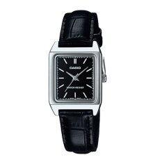ซื้อ Casio Standard นาฬิกาข้อมือ สายหนัง รุ่น Ltp V007L 1Eudf สีดำ หน้าดำ