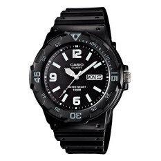 ราคา Casio Standard นาฬิกาข้อมือผู้ชาย สีดำ สายเรซิ่น รุ่น Mrw 200H 1B2Vdf ถูก