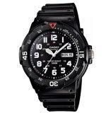 ราคา Casio Standard นาฬิกาข้อมือผู้ชาย สายเรซิ่น รุ่น Mrw 200H 1Bvdfn สีดำ Casio ไทย