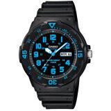 ราคา Casio Standard นาฬิกาข้อมือผู้ชาย สีดำ ฟ้า สายเรซิน รุ่น Mrw 200H 2Bvdf Casio ใหม่