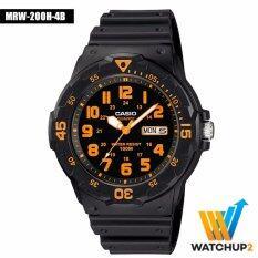 ราคา Casio Standard นาฬิกาข้อมือ รุ่น Mrw 200H 4 Black Casio Standard สมุทรปราการ