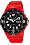 ราคา Casio Standard นาฬิกาข้อมือผู้ชาย สายเรซิ่น รุ่น Mrw 200Hc 4Bvdf สีแดง เป็นต้นฉบับ
