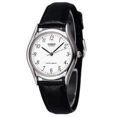 ขาย Casio Standard นาฬิกาข้อมือผู้ชาย สีเงิน สายหนังสีดำ รุ่น Mtp 1094E 7B ใน ไทย