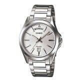 ซื้อ Casio Standard นาฬิกาข้อมือสุภาพบุรุษ สายสแตนเลส รุ่น Mtp 1370D 7A1Vdf Silver Casio ถูก