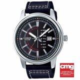 ขาย Casio Standard นาฬิกาข้อมือสุภาพบุรุษ สายหนัง รุ่น Mtp E128L 1Avdf Black Thailand ถูก