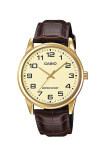 ซื้อ Casio Standard นาฬิกาข้อมือ สายหนัง รุ่น Mtp V001Gl 9Budf สีทอง Casio ออนไลน์