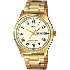 ขาย ซื้อ Casio Standard นาฬิกาข้อมือสุภาพบุรุษ สายสเตนเลสทอง รุ่น Mtp V006G 9Budf หน้าทอง