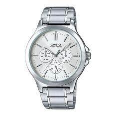 ซื้อ Casio Standard นาฬิกาผู้ชาย สายสแตนเลสส รุ่น Mtp V300D 7Audf White Casio ถูก