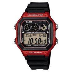 ราคา Casio Standard นาฬิกา Digital Ae 1300Wh 4Av Black Red ใหม่ ถูก