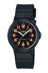 ซื้อ Casio Standard นาฬิกาข้อมือ ชาย และหญิง สีดำ ส้ม สายเรซิ่น รุ่น Mq 71 4B ถูก