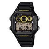 Casio Standard นาฬิกาข้อมือชาย Digital รุ่น Ae 1300Wh 1Av Black Yellow Thailand