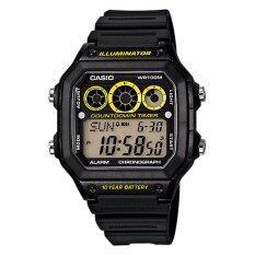 ขาย Casio Standard นาฬิกาข้อมือชาย Digital รุ่น Ae 1300Wh 1Av Black Yellow Casio