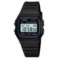 ขาย ซื้อ Casio Standard นาฬิกาข้อมือชาย หญิง รุ่น F 91W 1Dg Black ประกันCmg
