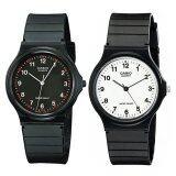 ทบทวน ที่สุด Casio Standard นาฬิกาข้อมือ ชาย หญิง สายเรซิน รุ่น Mq 24 1B และ Mq 24 7B สีดำ ขาว