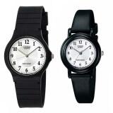 ขาย Casio Standard นาฬิกาข้อมือ คู่ชาย หญิง สายเรซิน รุ่น Mq 24 7B3 และ Lq 139Amv 7B3 สีดำ ขาว Thailand ถูก