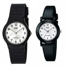 ราคา Casio Standard นาฬิกาข้อมือ คู่ชาย หญิง สายเรซิน รุ่น Mq 24 7B3 และ Lq 139Amv 7B3 สีดำ ขาว ใหม่