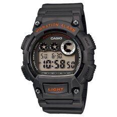 ราคา ราคาถูกที่สุด Casio Standard นาฬิกาข้อมือผู้ชาย Dark Grey สายเรซิ่น รุ่น W 735H 8Avdf