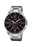 ราคา Casio Standard นาฬิกาข้อมือผู้ชาย สายแสตนเลส รุ่น Mtp 1374D 1Av Black เป็นต้นฉบับ