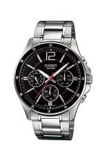 ราคา Casio Standard นาฬิกาข้อมือผู้ชาย สายแสตนเลส รุ่น Mtp 1374D 1Av Black Casio ออนไลน์