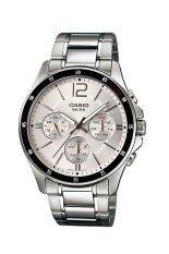 ราคา Casio Standard นาฬิกาข้อมือผู้ชาย สายแสตนเลส รุ่น Mtp 1374D 7Av White ใหม่ล่าสุด