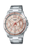 ราคา Casio Standard นาฬิกาข้อมือผู้ชาย สายแสตนเลส รุ่น Mtp 1374D 9Av Pink ใหม่ล่าสุด