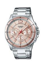 ราคา Casio Standard นาฬิกาข้อมือผู้ชาย สายแสตนเลส รุ่น Mtp 1374D 9Av Pink ที่สุด