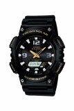 ซื้อ Casio Standard นาฬิกาข้อมือผู้ชาย สายเรซิ่น รุ่น Aq S810W 1Bvdf สีดำ ถูก