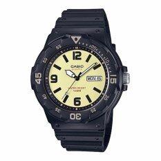 ราคา ราคาถูกที่สุด Casio Standard นาฬิกาข้อมือผู้ชาย สายเรซิน รุ่น Mrw 200H 5Bvdf สีดำ หน้าปัดสีครีม