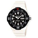ราคา Casio Standard นาฬิกาข้อมือผู้ชาย สายเรซิ่น รุ่น Mrw 200Hc 7Bv White Black