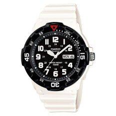 ราคา Casio Standard นาฬิกาข้อมือผู้ชาย สายเรซิ่น รุ่น Mrw 200Hc 7Bv White Black Casio