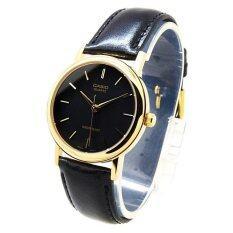 ส่วนลด Casio Standard นาฬิกาข้อมือผู้ชาย สายหนัง รุ่น Mtp 1095Q 1A Black Casio ไทย