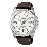 Casio Standard นาฬิกาข้อมือ ผู้ชาย สายหนังสีน้ำตาล รุ่น Mtp 1314L 7Av เป็นต้นฉบับ