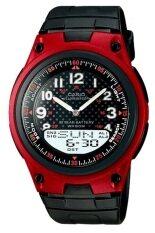 ขาย Casio Standard นาฬิกาข้อมือผู้ชาย สีดำ แดง สายเรซิ่น รุ่น Aw 80 4B Casio ผู้ค้าส่ง