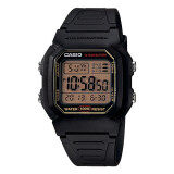 ซื้อ Casio Standard นาฬิกาข้อมือผู้ชาย สีดำ สายเรซิน รุ่น W 800Hg 9Avdf ถูก ไทย