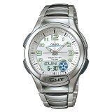 ขาย Casio Standard นาฬิกาข้อมือผู้ชาย สีเงิน เงิน สายเรซิ่น รุ่น Aq 180Wd 7Bv ถูก